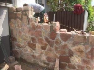 Treppe im Aufbau